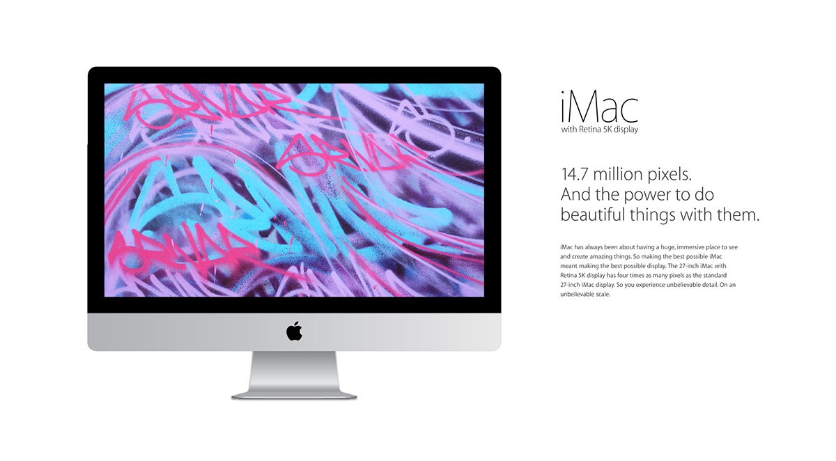 photorealistic vector apple iMac