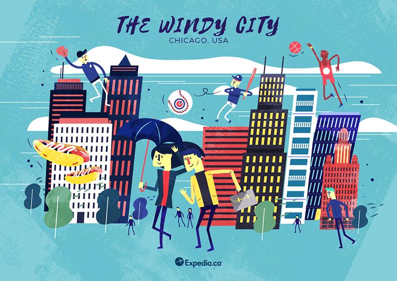 :::City Nicknames Illustrated::: on Behance