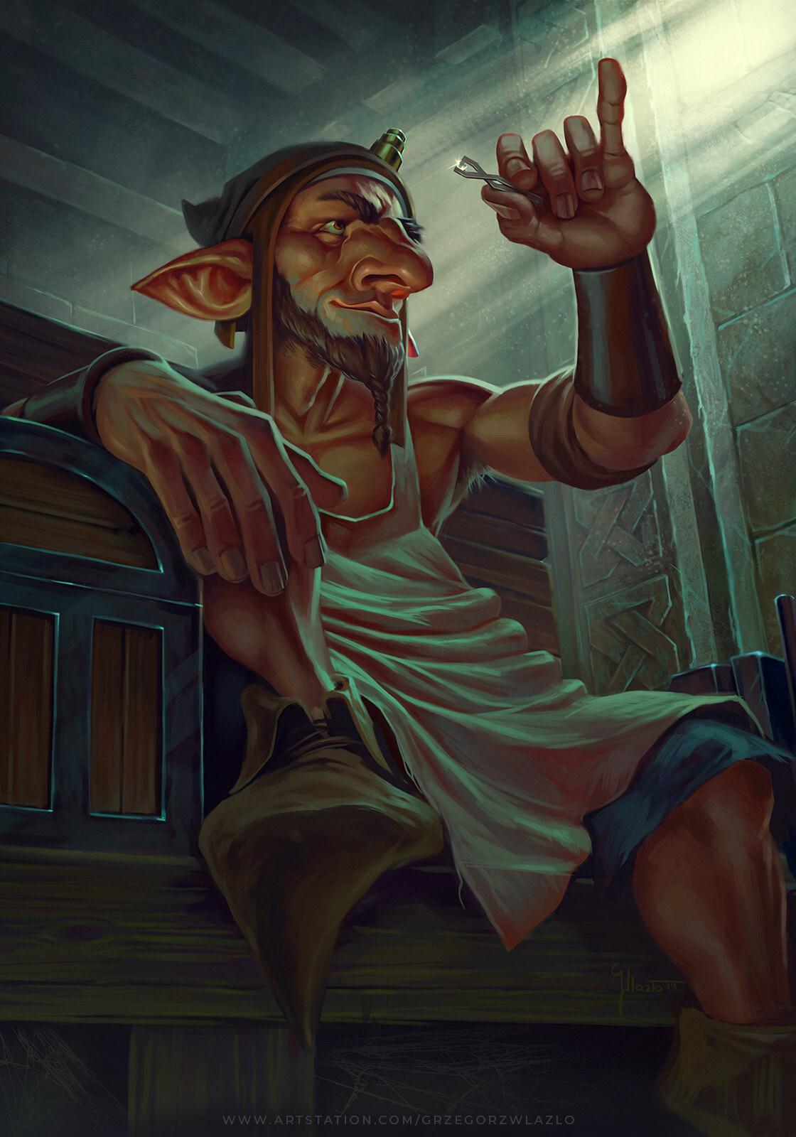 witcher Gwent sapkowski fanart fantasy gnome dwarf
