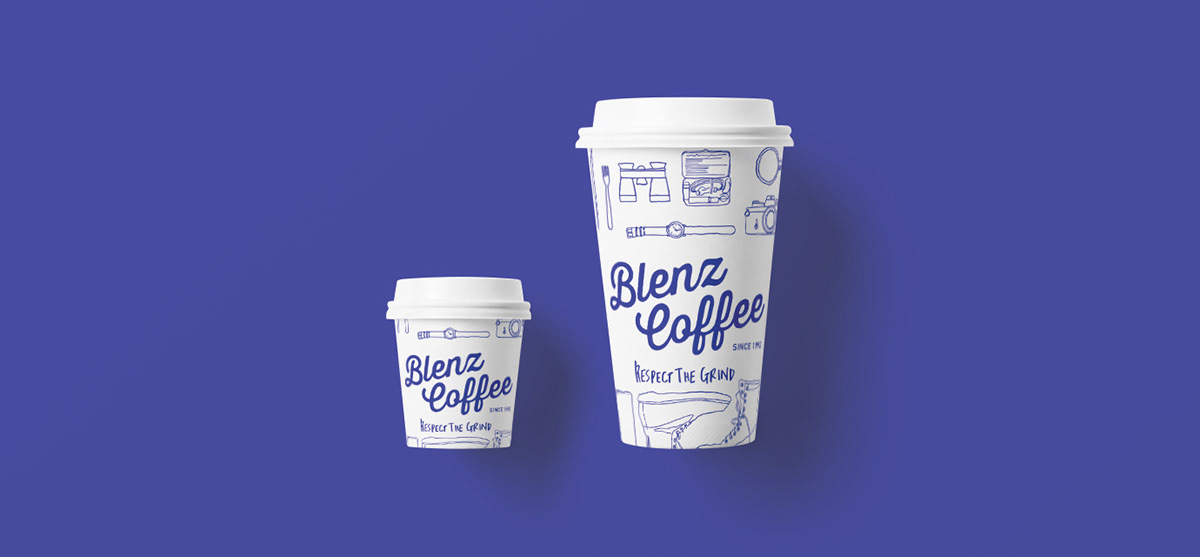 Blenz branding  cafe Canadian Coffee Food Packaging Hospitality Packaging