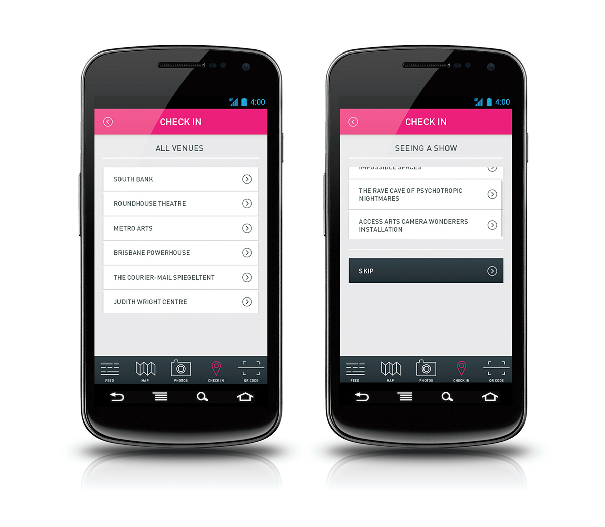 Brisbane brisbane festival android app camera QR Code map UI ux