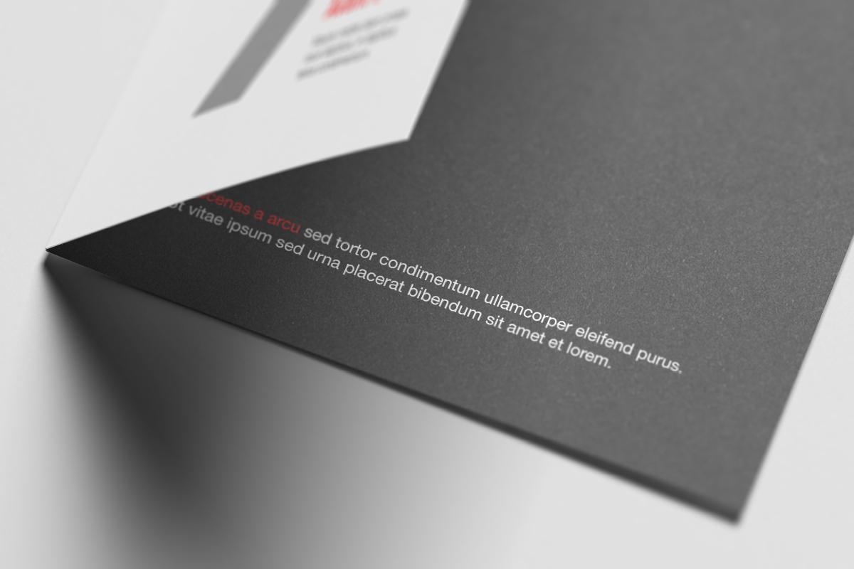 A6 Bi-Fold / Half Fold Invitation Brochure Mock-Up on Behance