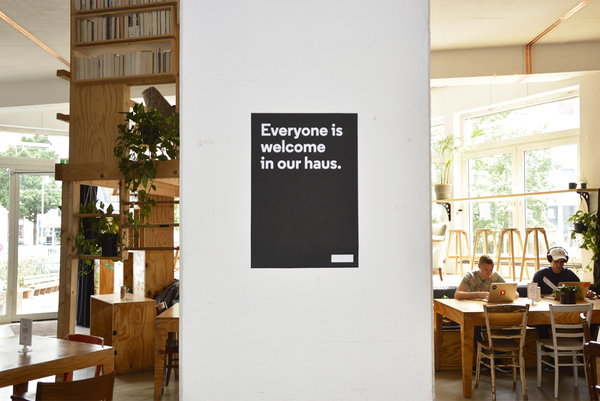 berlin,Diversity,design,poster,Exhibition ,betahaus,coworking,Trump,monochrome,typography