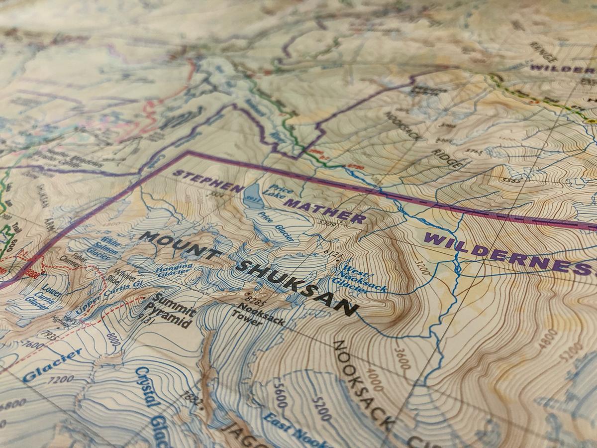 Mount Baker Climbing Map, for Green Trails on Behance