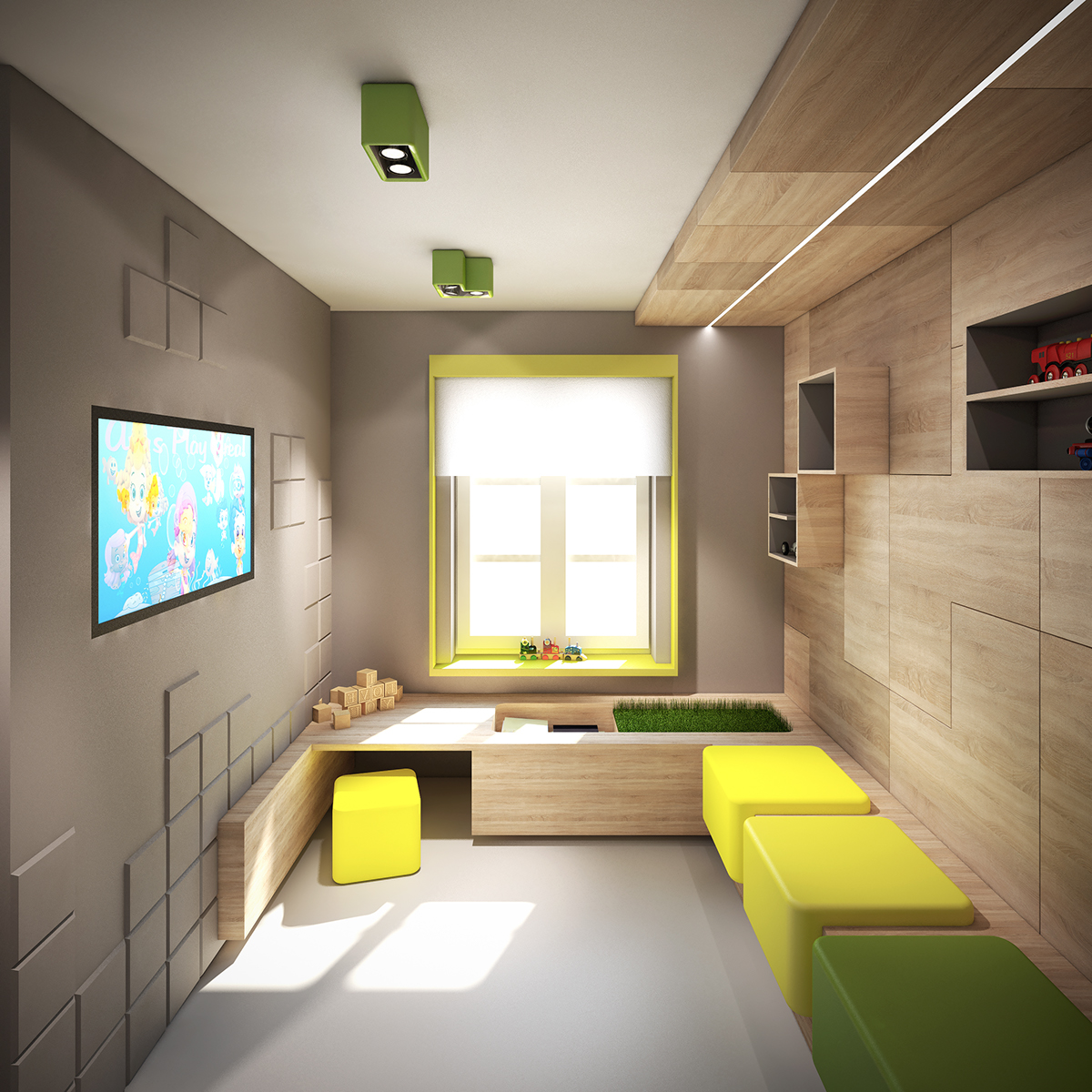 interior design for pediatric practice on behance. Black Bedroom Furniture Sets. Home Design Ideas