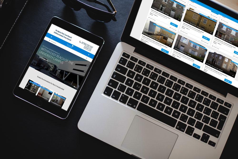 Huddersfield Student Accommodation Website on Behance