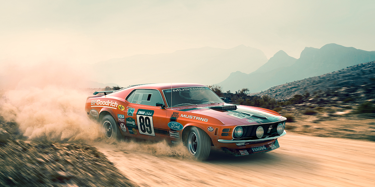 Rally Mustang On Behance