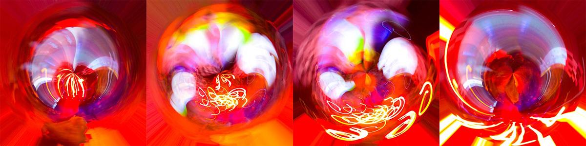 digital art lights night life night Mandala spiritual energy movement speed