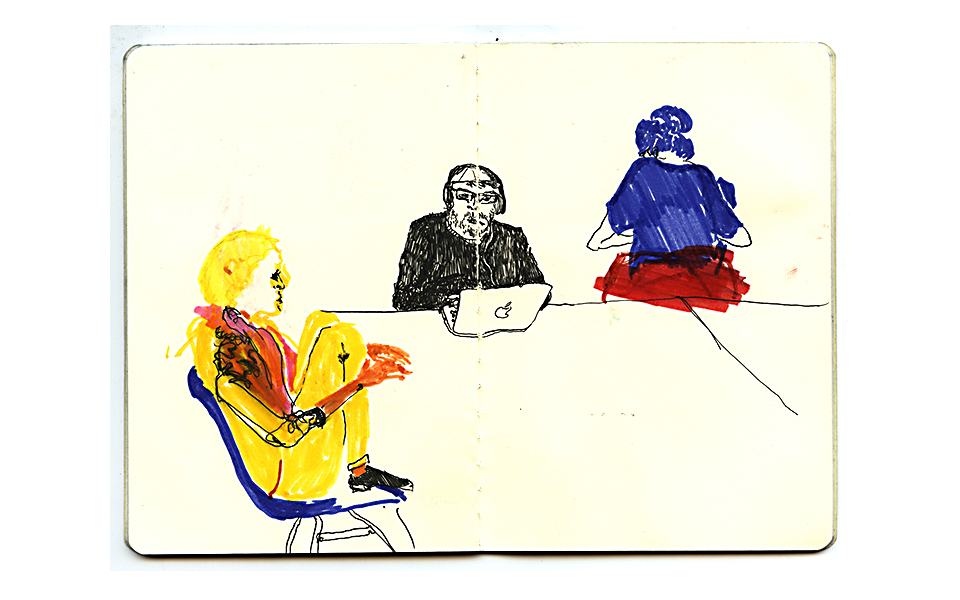 peaceful color pen beach Park people pause moment doodle handmade handcrafted