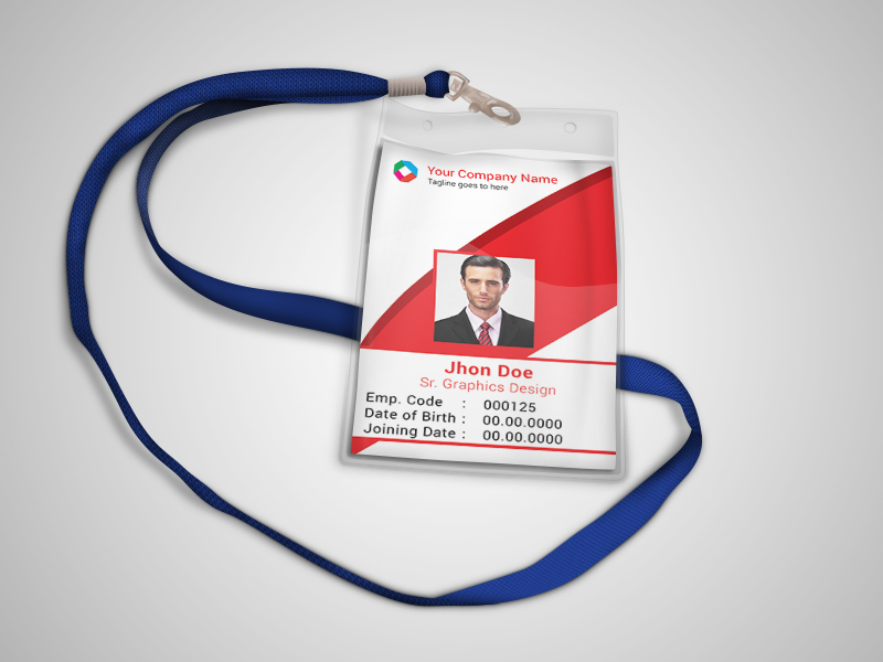 Corporate Official ID Card Template Freebie On Behance