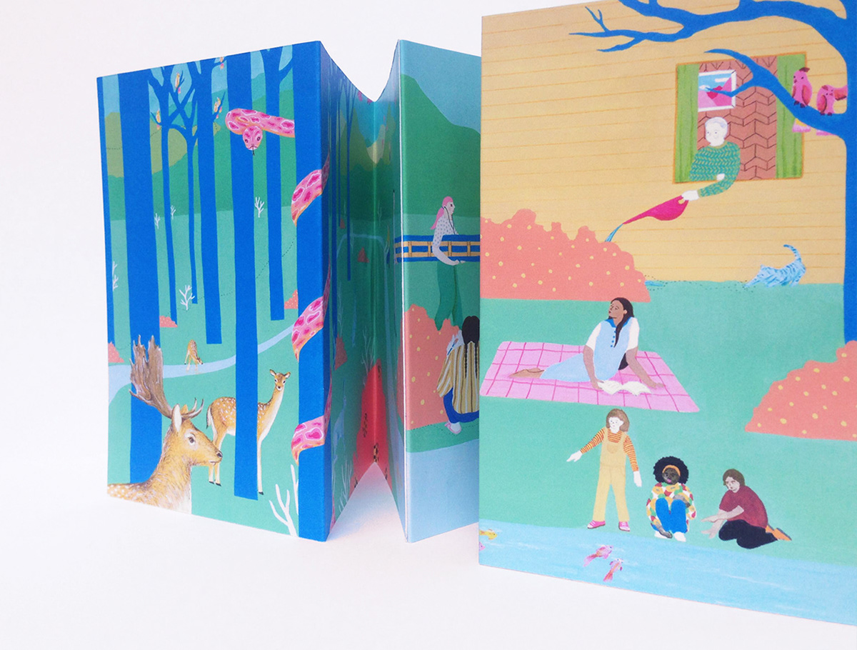 childrensbookillustration concertina concertinabook Drawing  ILLUSTRATION  painting   picturebook
