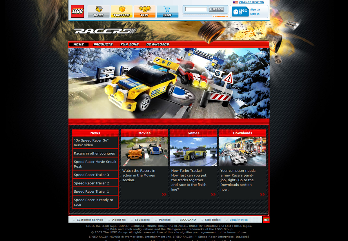 Lego Racers Turbo Track Game On Behance