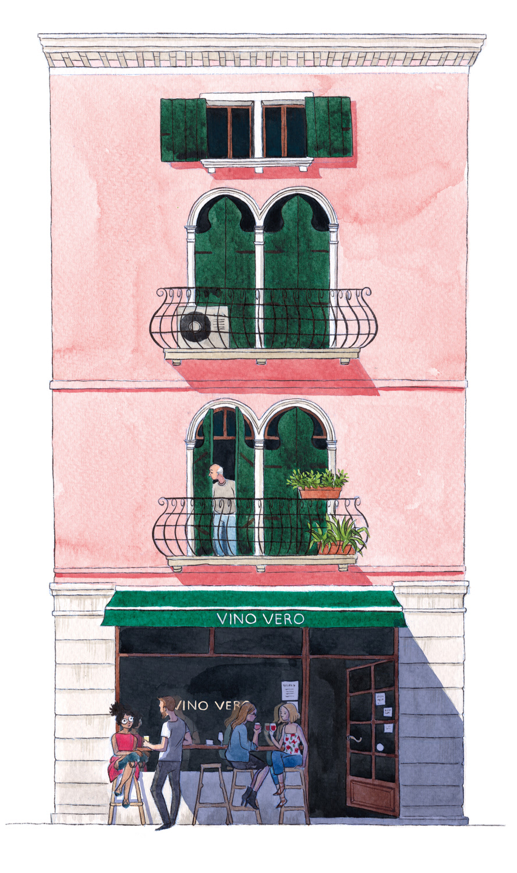 Travel travel illustrations reportage illustration buildings Building Illustration sketchbook watercolor
