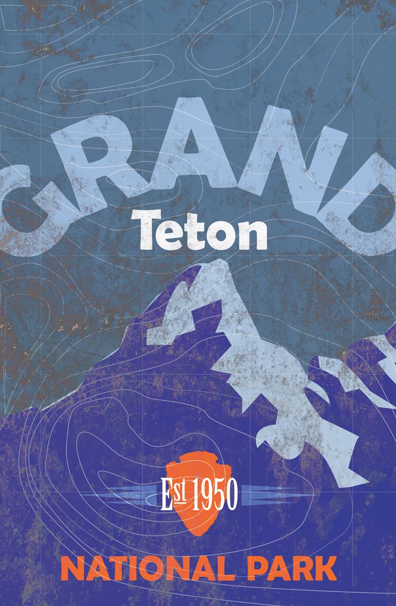 Grand Teton National Park Poster On Behance