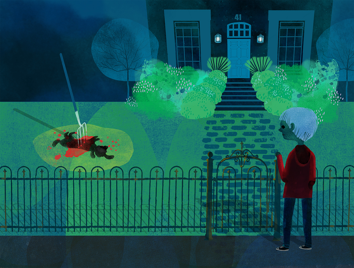 book illustration markhaddon the curious incident dog