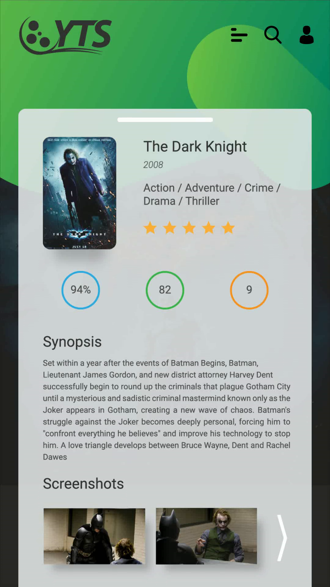 YIFY Torrent app Redesign | UI animation design on Behance