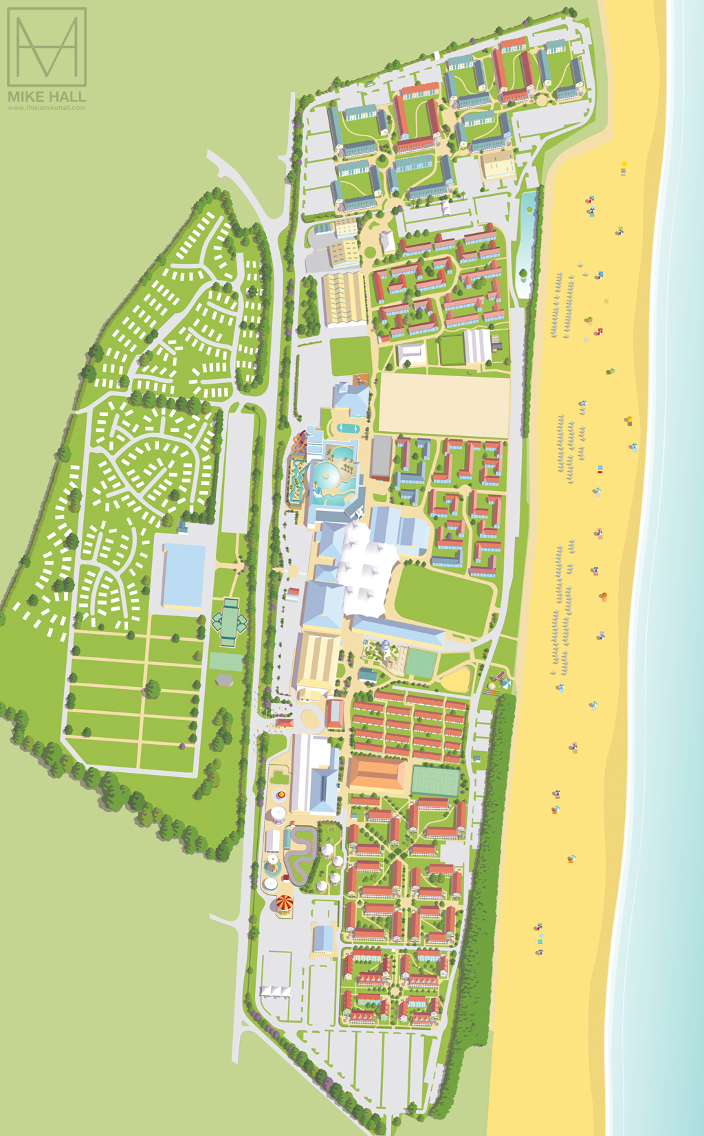 Butlins Skegness Map Resort maps for Butlins on Behance