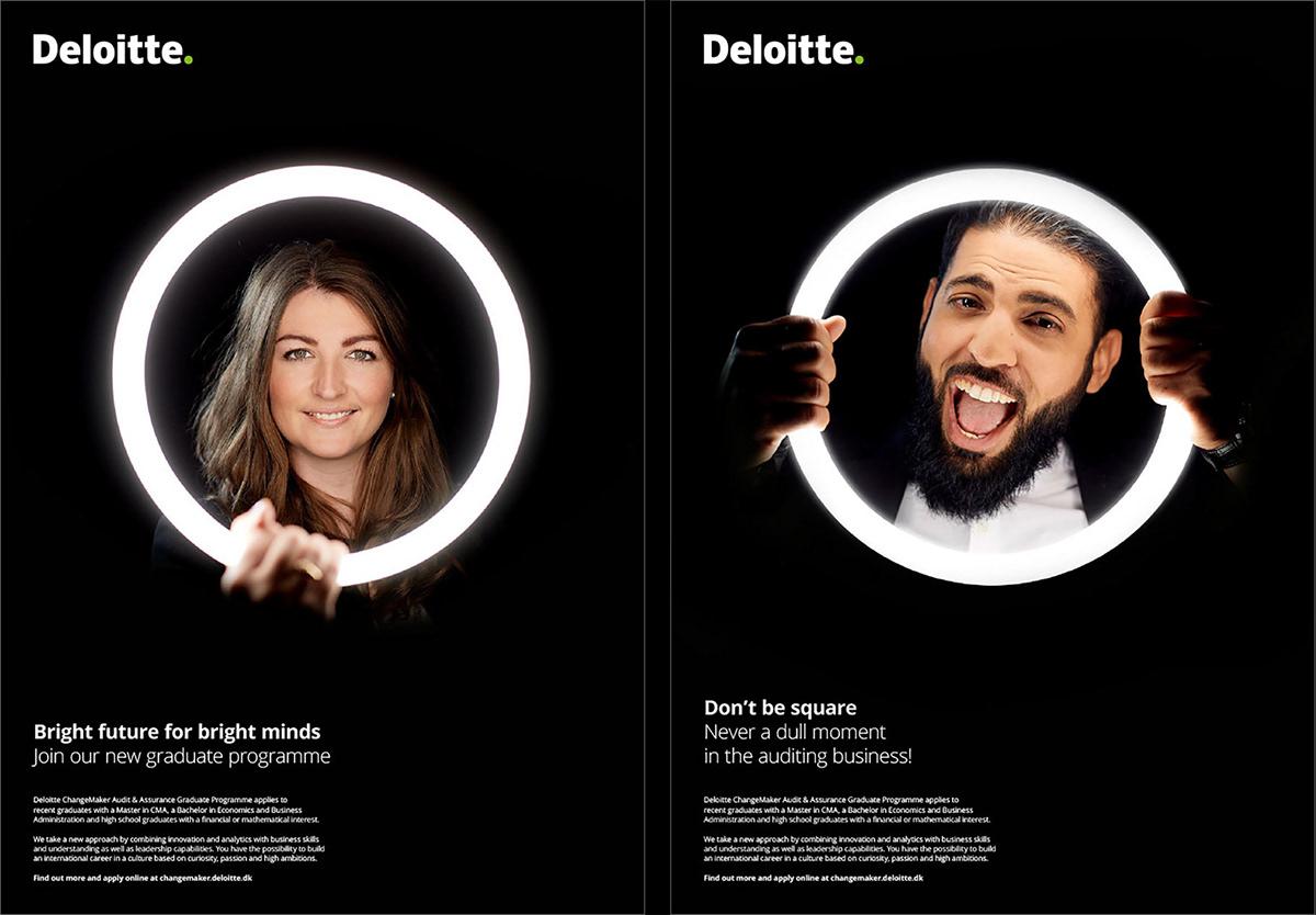 art direction  concept design graphic design  photo art direction deloitte recruitment
