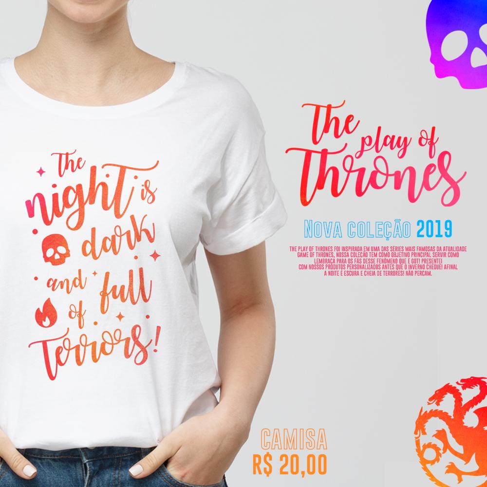 Estampas Game of thornes series coleção camisa mousepad almofada lettering tipografia design superficie