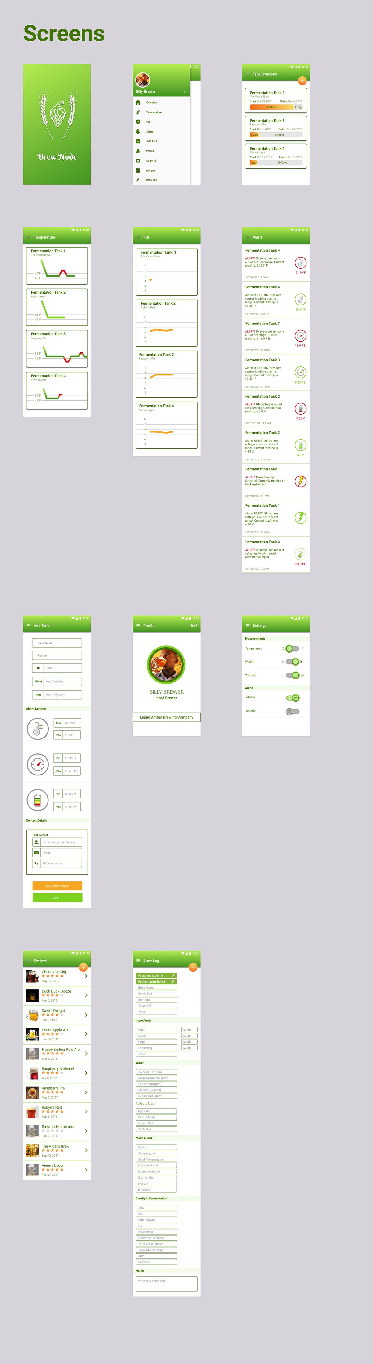 Brew Node for Warrier Tech  App Design on Behance