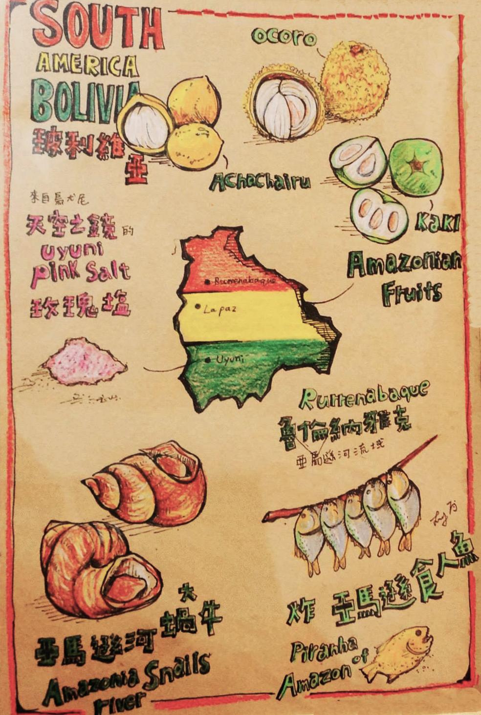 Leslie Wang - World Food Map - South America