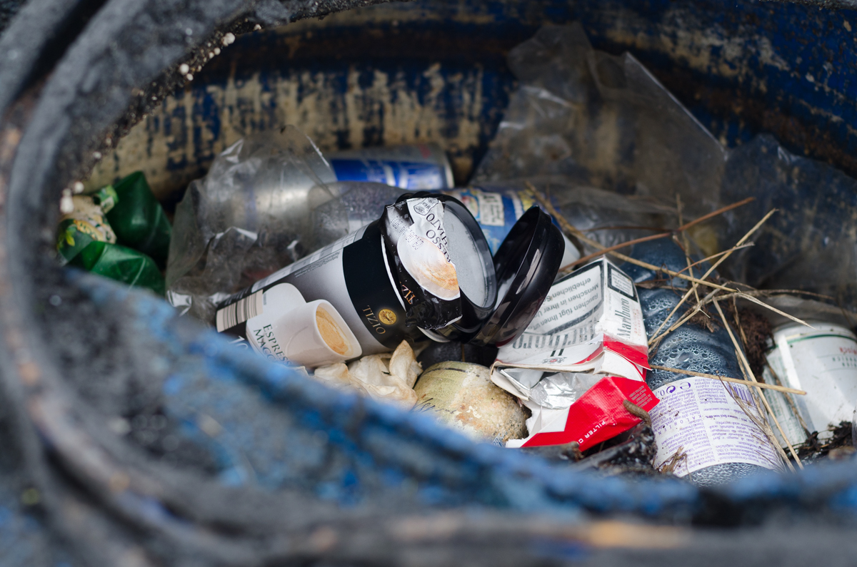 Nature waste garbage