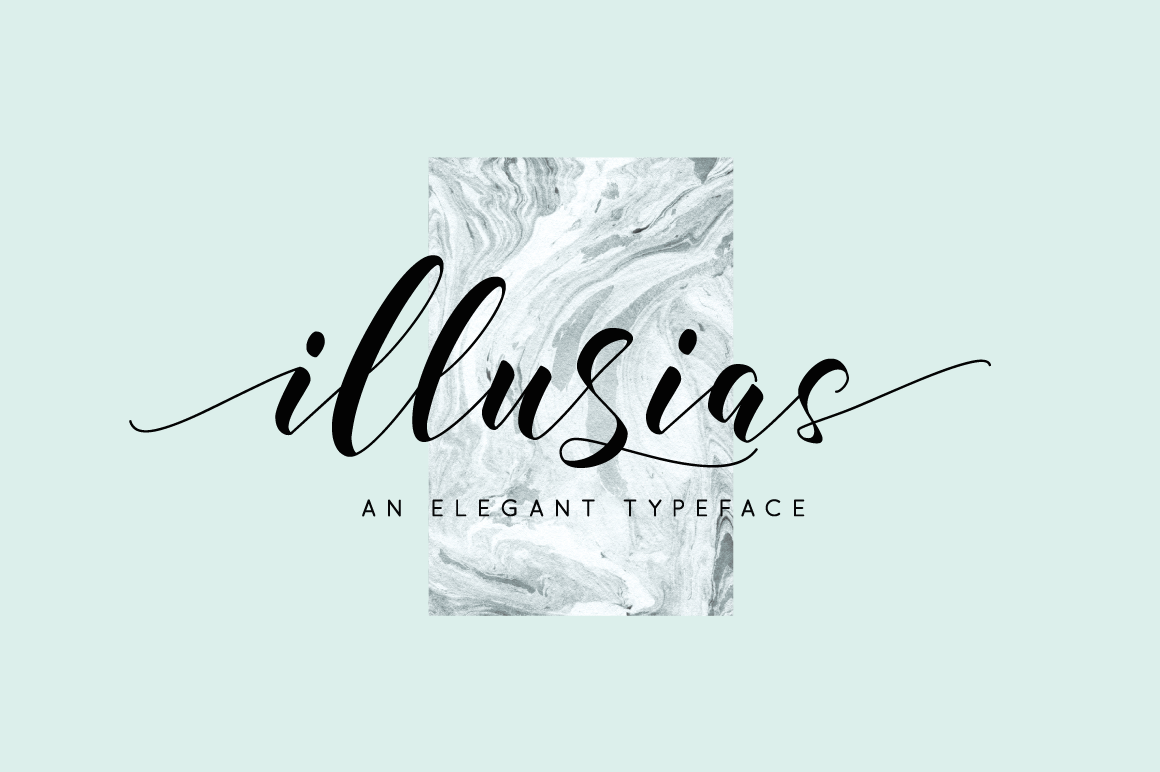 Illusias Is An Elegant Handwritten Typeface