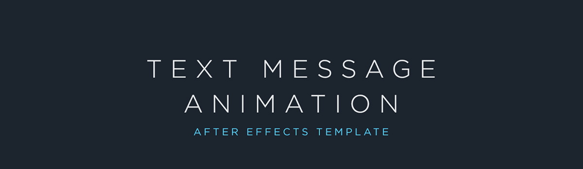 Text Message Animation | FREE After Effects Template on Behance