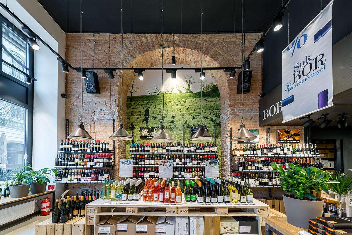 Interior store Bortársaság hungary wine Wine Shop winestore