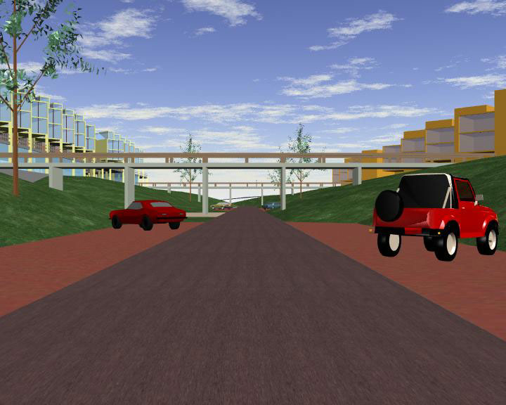 highway, house,dwelling, parking,house,parking