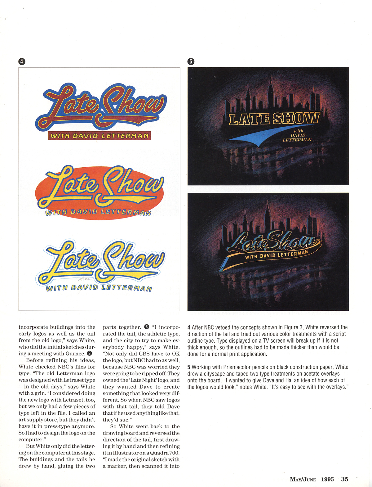 david letterman Roger white Late Show Logo late night Hal Gurnee Ed Sullivan Theater broadway Times Square's neon nbc cbs marquee new york city Graphic Designer Worldwide pants titles