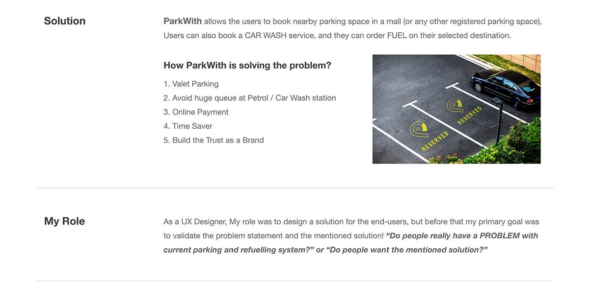 Case Study UX design parking fuel ui ux app Park design ux Solution