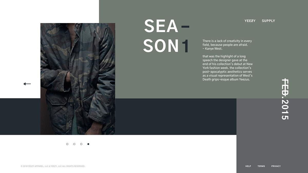 new arrivals f4e35 a1943 YEEZY | Web Design on Behance
