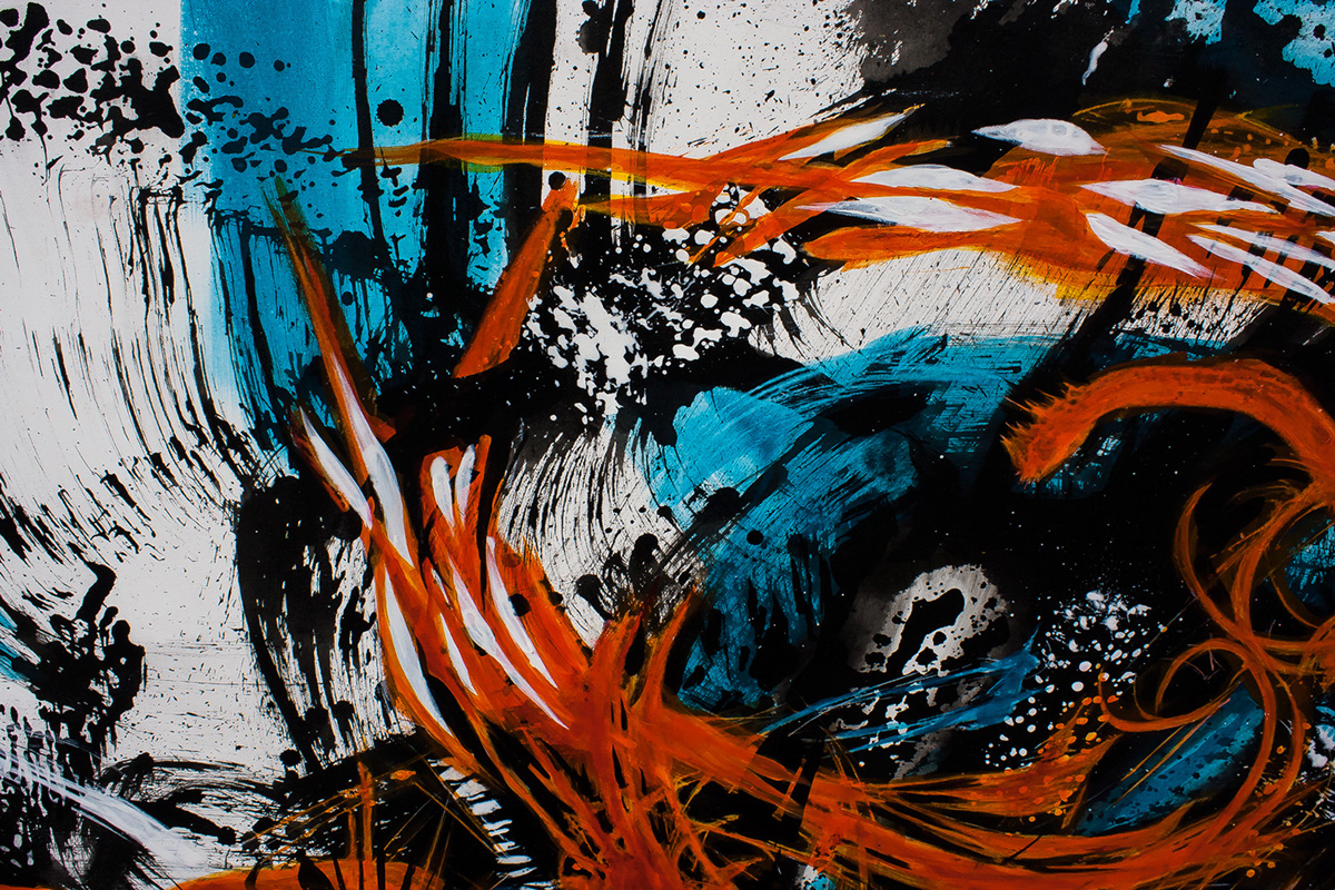 abstraction soft & hard rough & detailed black & white & color