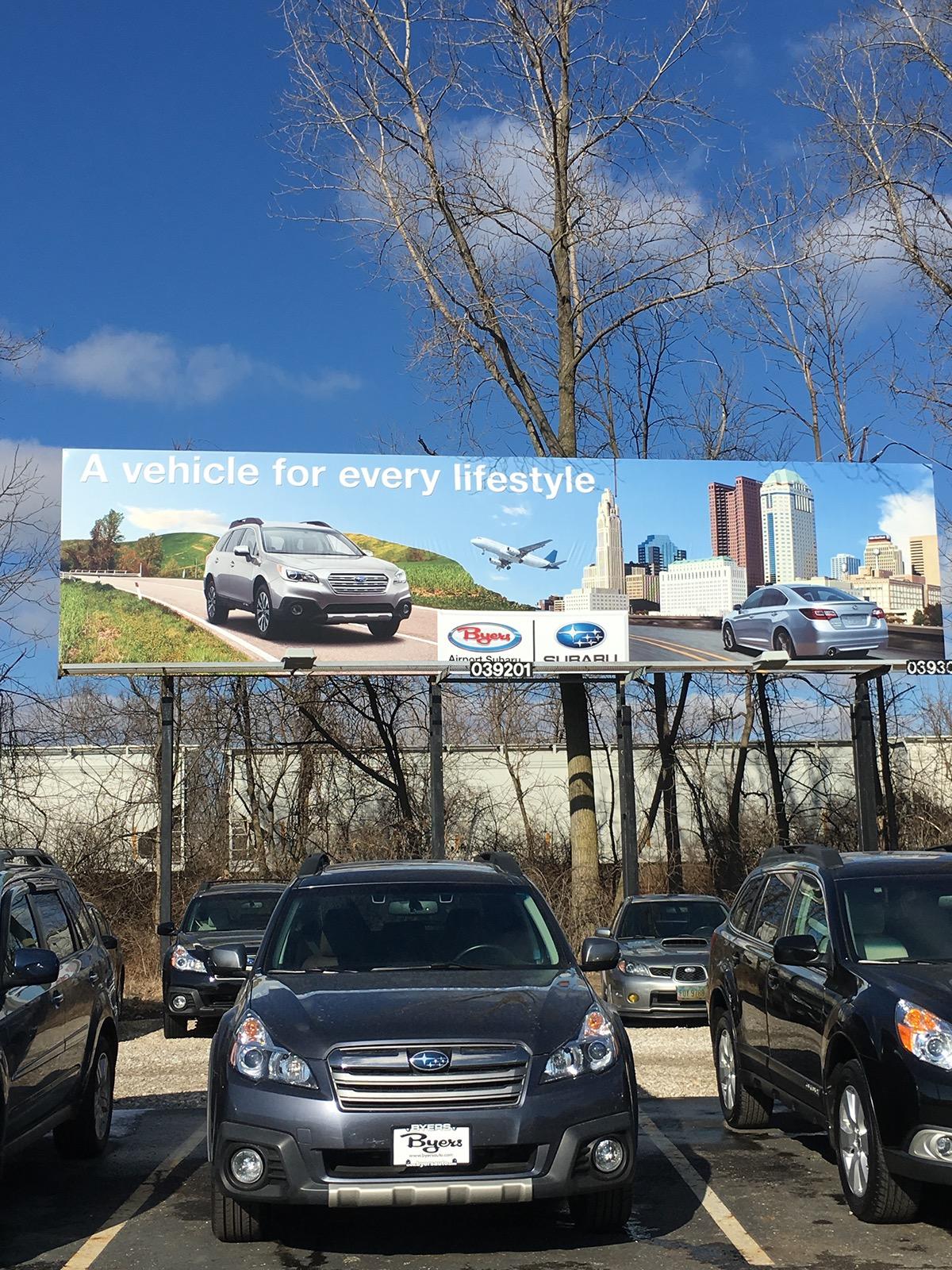 Byers Airport Subaru >> Byers Airport Subaru Outdoor Advertising On Behance