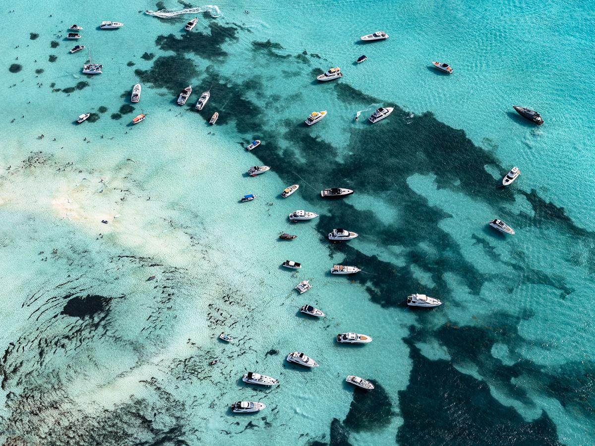 Aerial beach blue Caribbean Ocean photograhy sand sea summer water