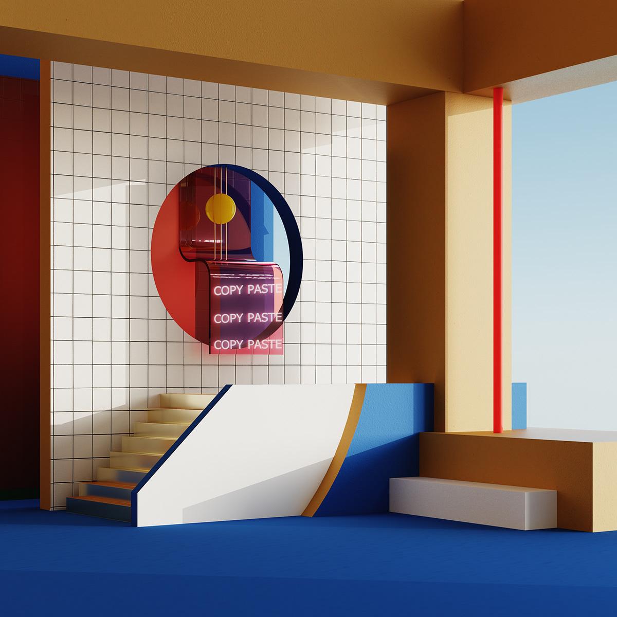 3D 3dsmax art direction  CGI creative design dreamscapes FStorm Interior spaces