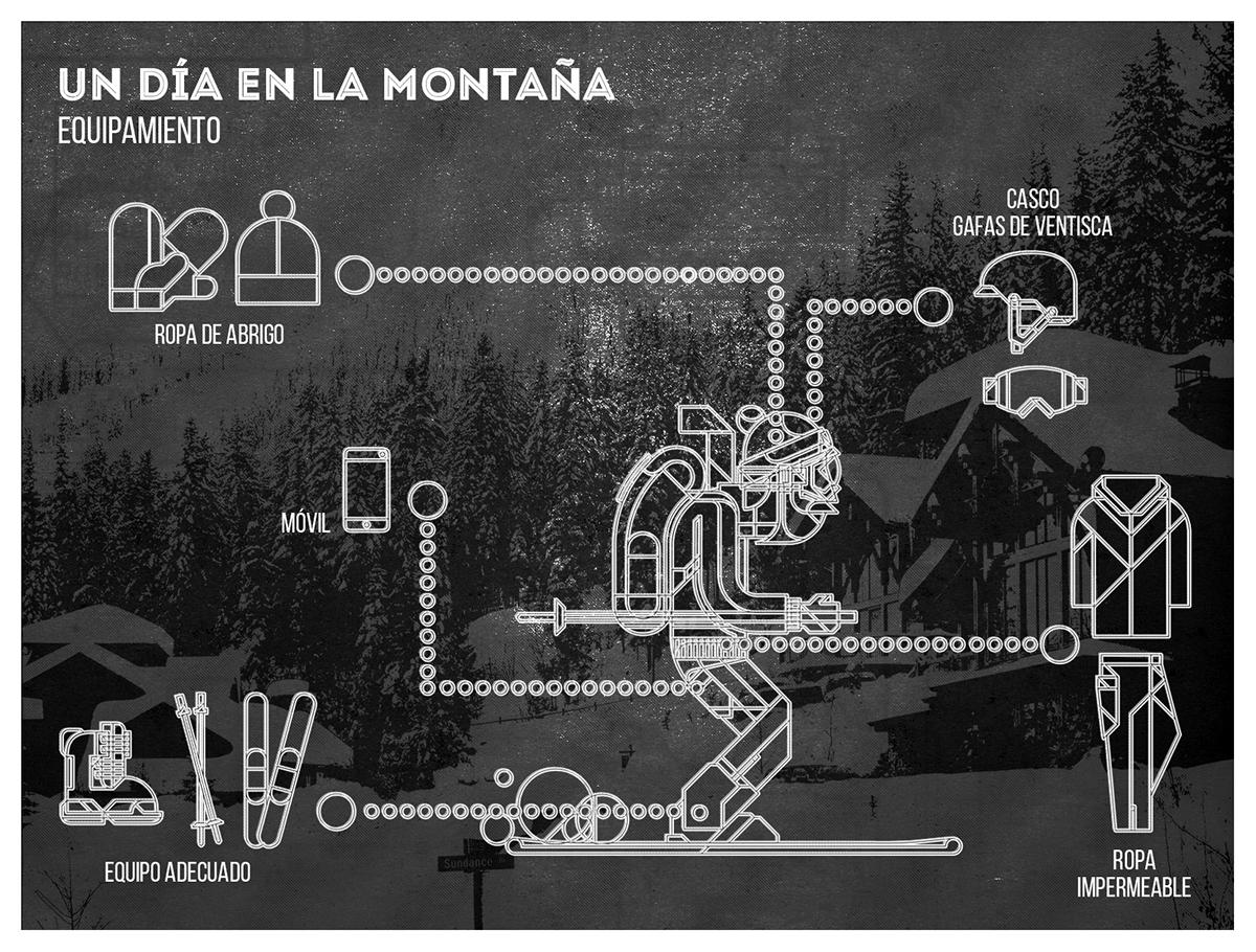 Ski infografia infographic invierno winter vintage