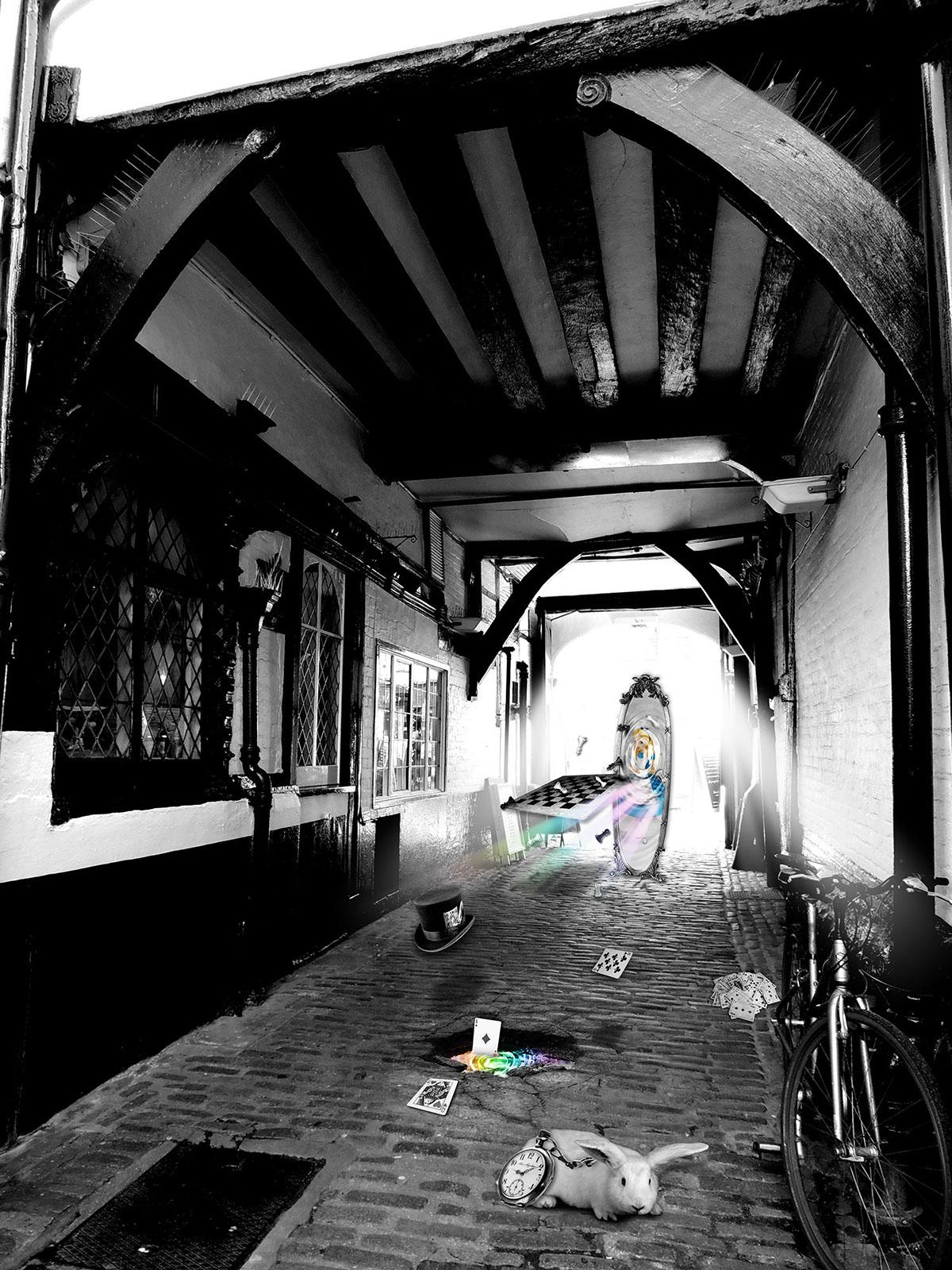 Adobe Portfolio Photo Manipulation  alice in wonderland Guildford Digital Art  Composite