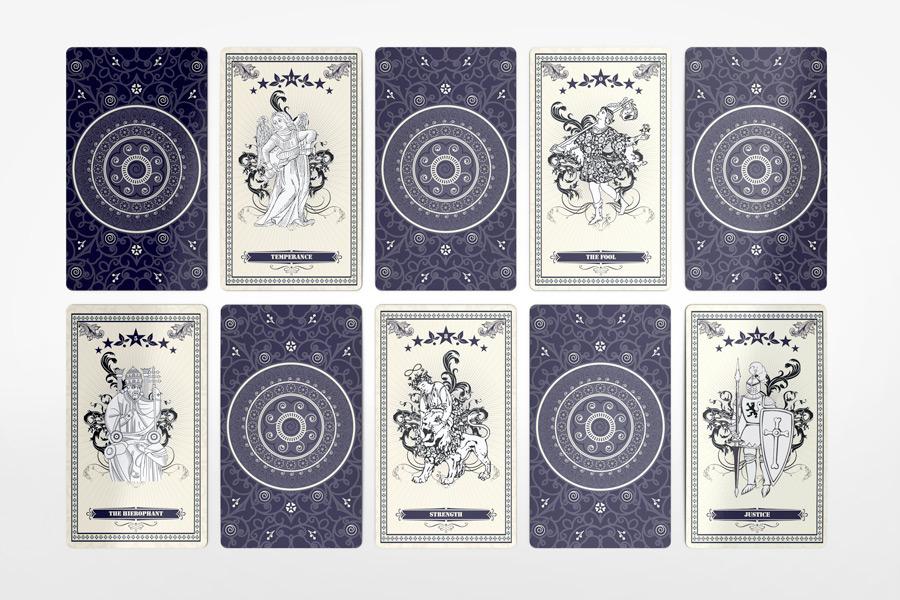 Tarot Card Mockup On Behance - Tarot card template