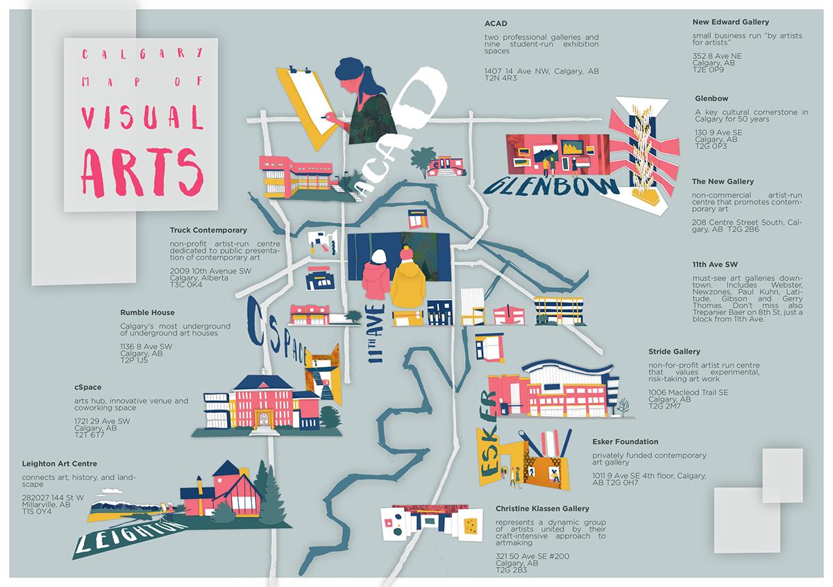Calgary Map of Visual Arts on Behance