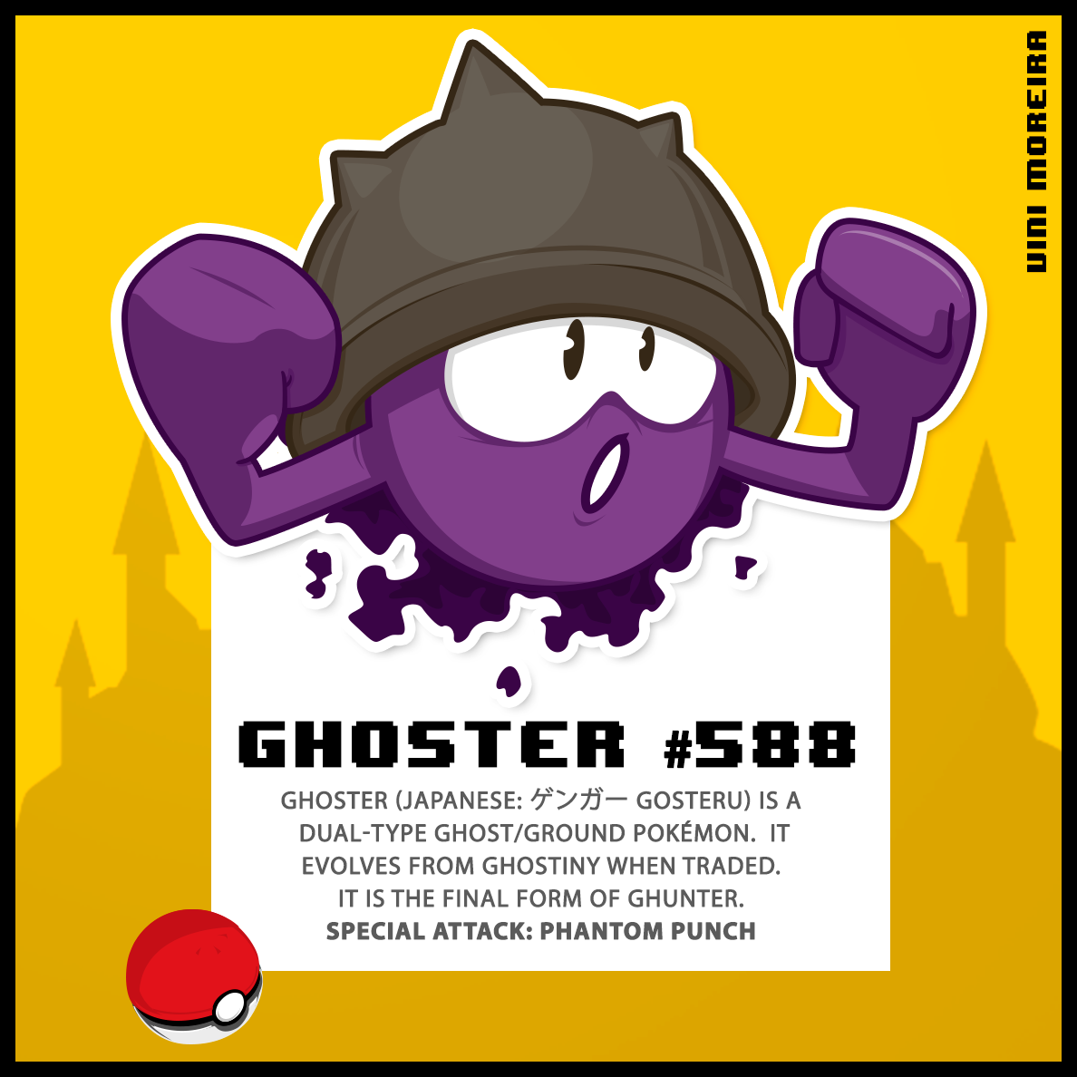 Pokemon monsters series vector colorfull sketch game
