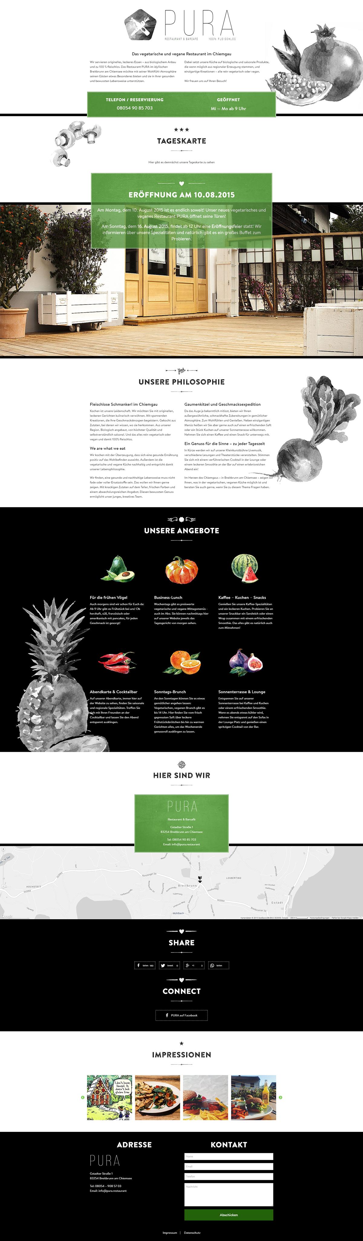 restaurant vegan Vegetarisch Vegetarian Website