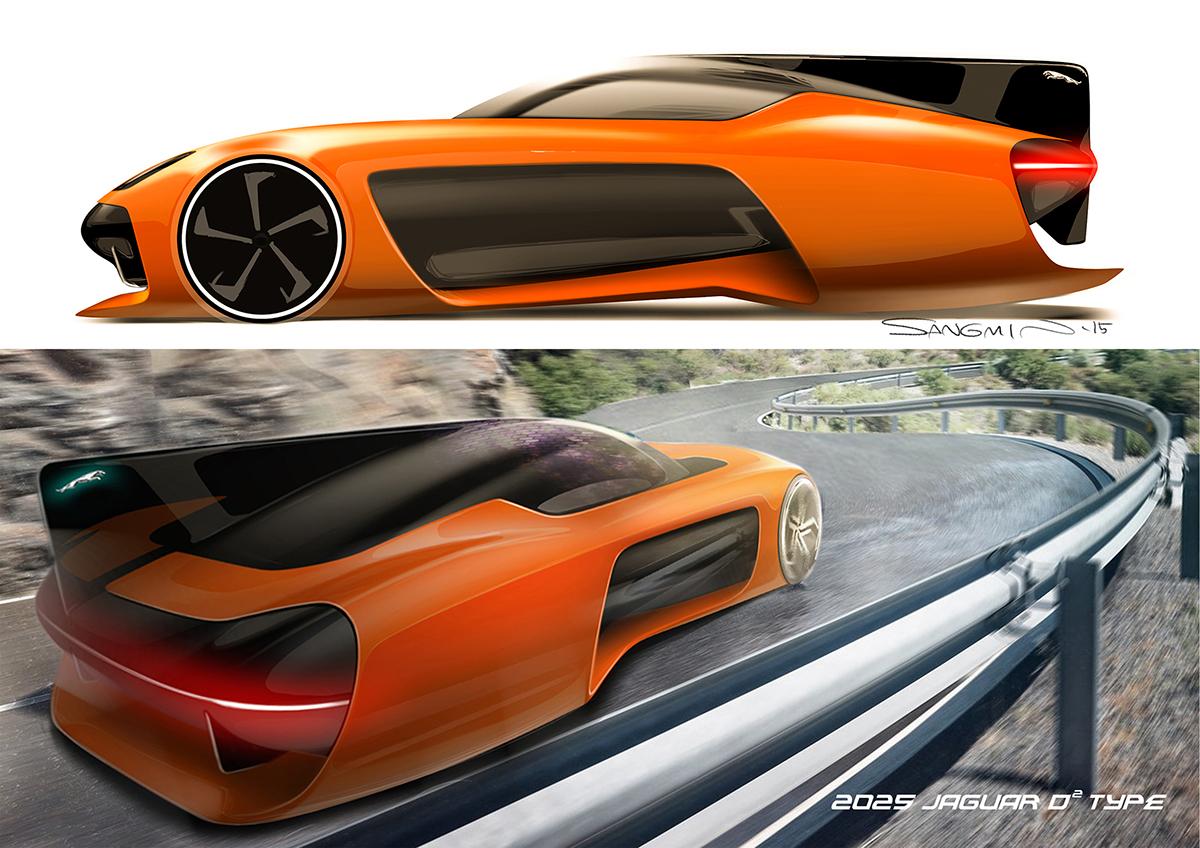 2025 Jaguar 2-seater sports car on Wacom Gallery