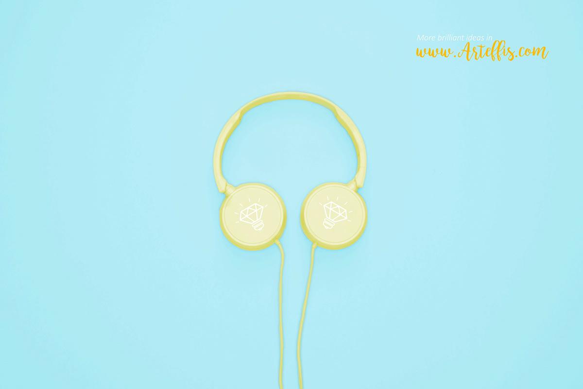 free mockup  headphones mockup Mockup free headphones mockup earbud mockup