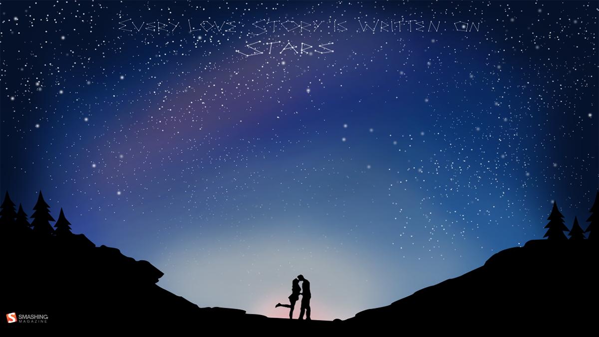 Wallpaper Calendar valentine smashing magazine starry night