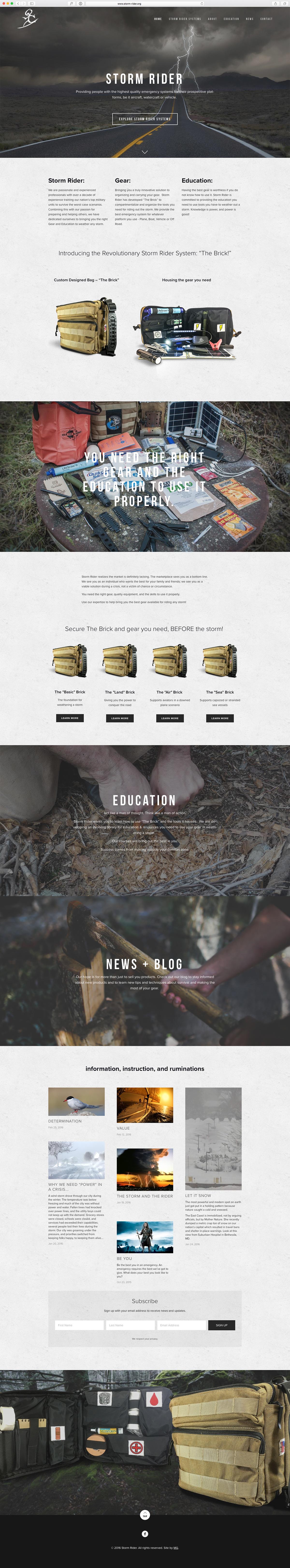 survival Survival Gear Website Web mobile storm weather Responsive squarespace