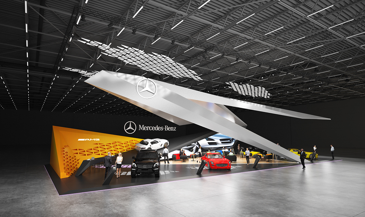 Mercedes benz exhibition stand design for Expo design paris
