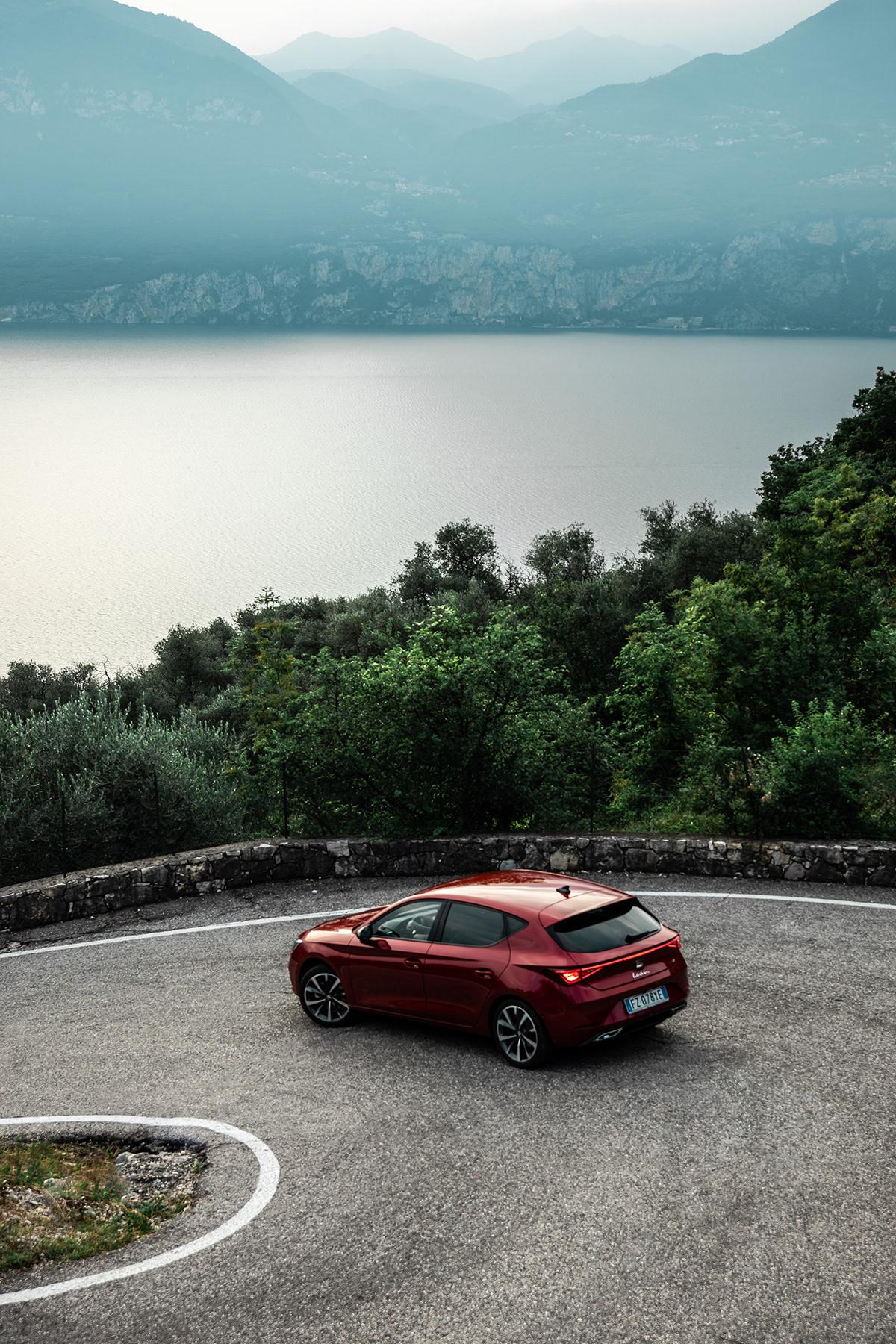 automotive   car garda Hatchback Italy Leon Photography  red seat SPORTSTOURER