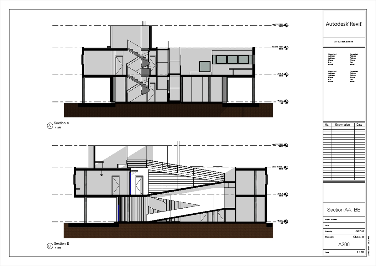 Villa Savoye Revit Model Le Corbusier 2014 Update On Behance